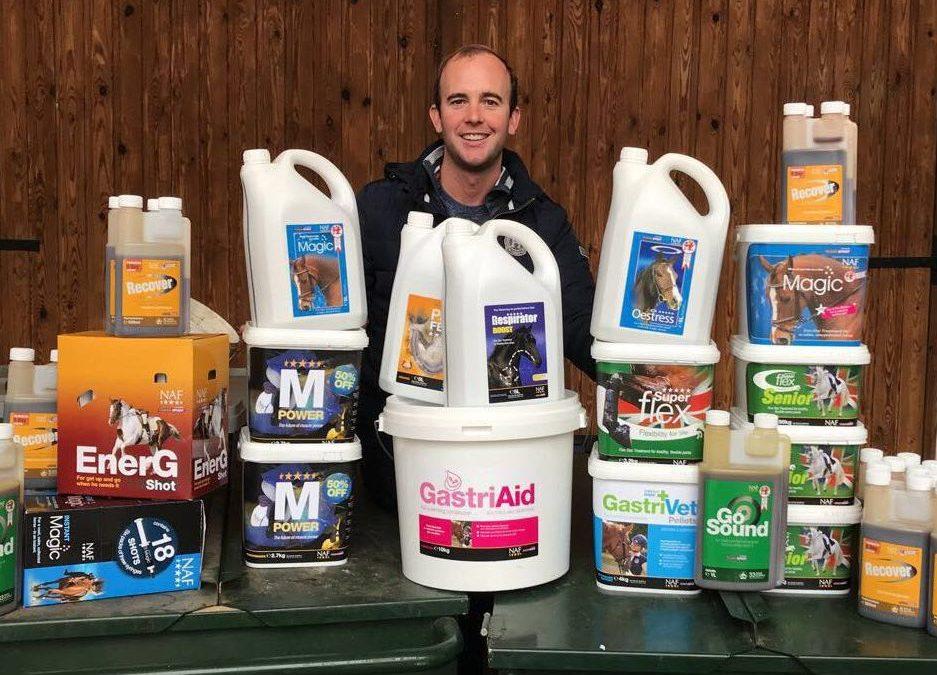 Showjumper Sam Hutton joins NAF Rider Support Programme